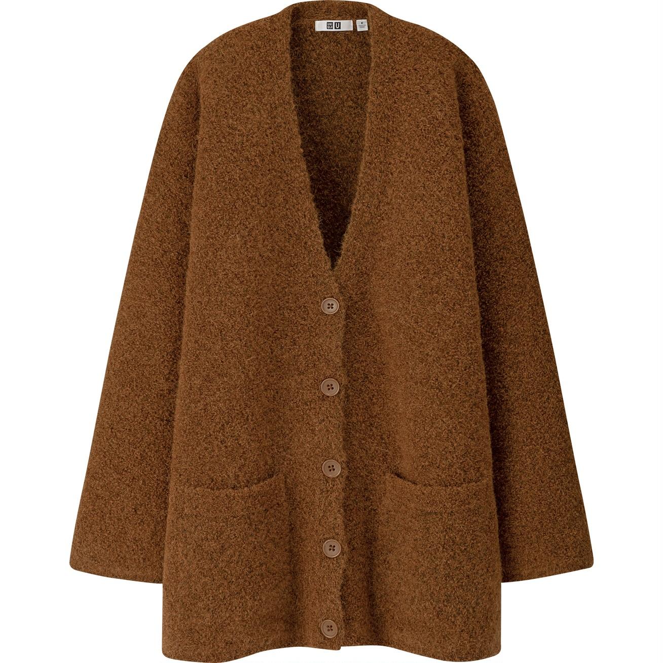 ウールブレンドブークレーニットコート(長袖)¥4990/ユニクロ(ユニクロ ユー)