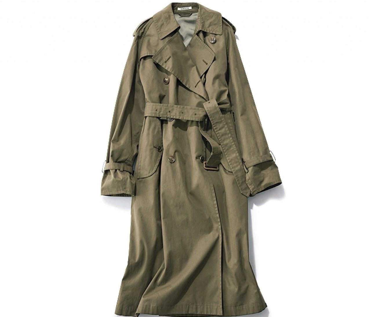 【カーキトレンチコート着回し】きれいめ辛口コートで毎日新鮮スタイルを♡
