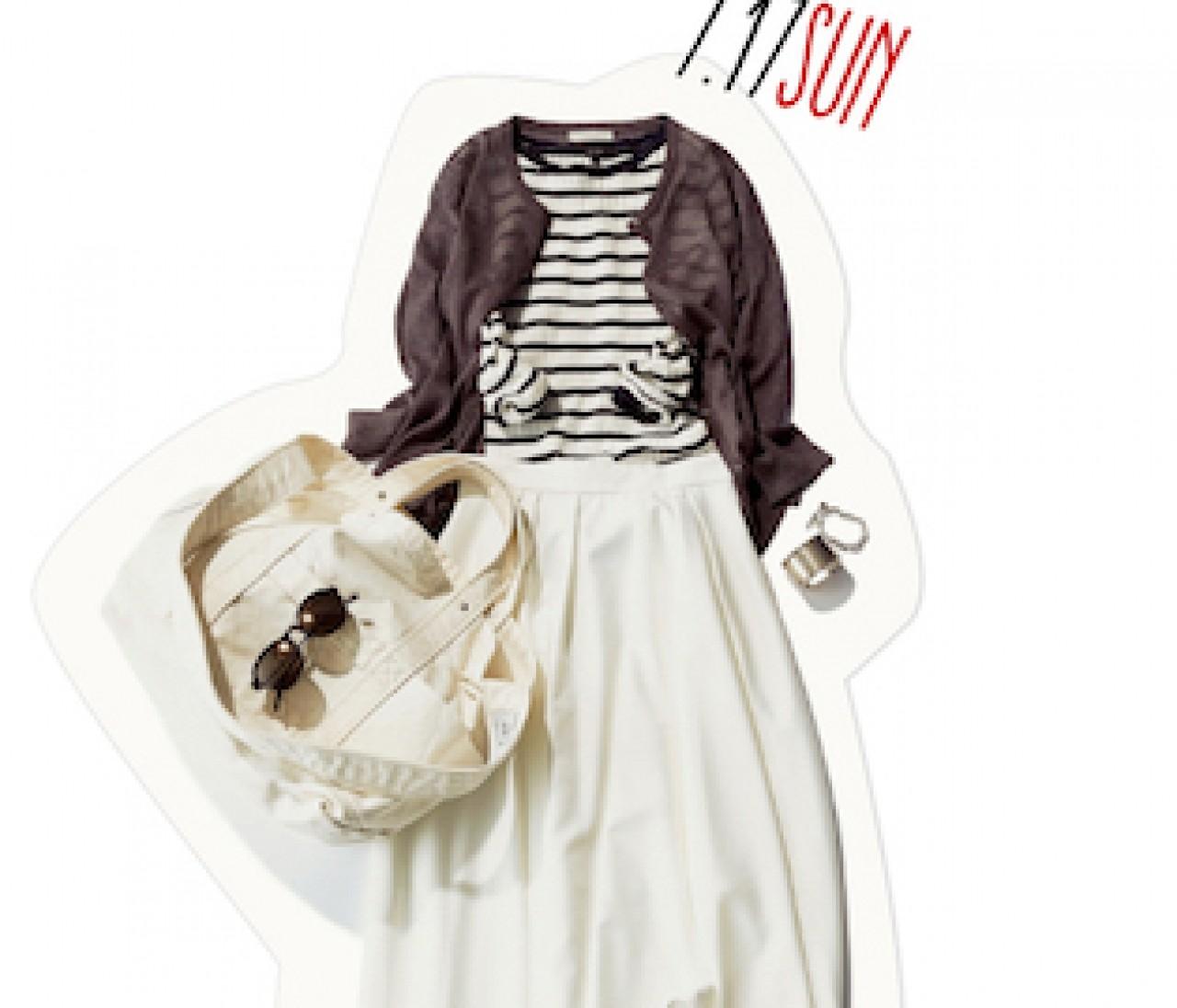 肌見せせずとも涼しげ! 揺れるふんわりスカートを、夏の休日に大人っぽく着こなす秘訣♡