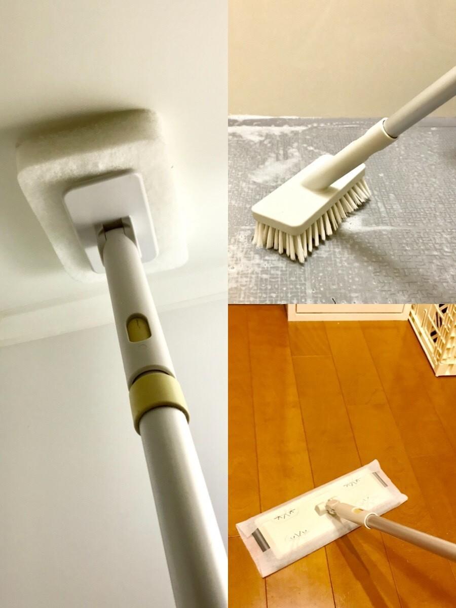 無印良品のお掃除システムユニット(ポール、スポンジ、デッキブラシ、ほうき)を使ってみた!