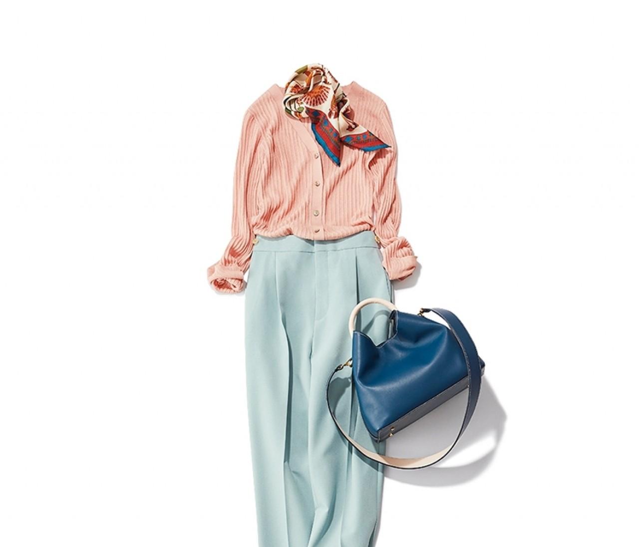 仲良しの同期と飲み会がある日は、ピンク×ミントブルーの一足早い春配色のコーデ【2020/2/20のコーデ】