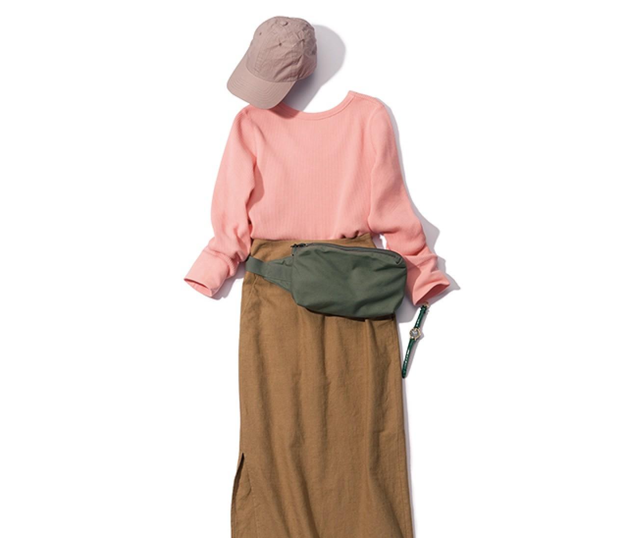 代休を取った日は、きれいめスカートに小物でスポーティさを!【2019/3/6のコーデ】