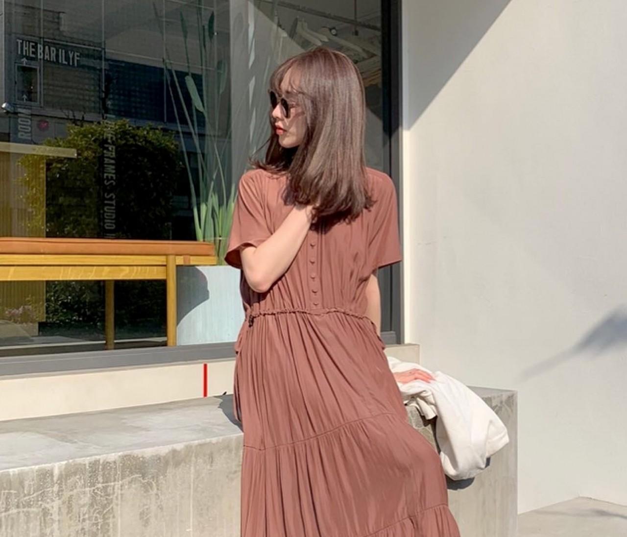 ALLプチプラ♡服&サンダルは「ブラウン」投入で高見え狙い!