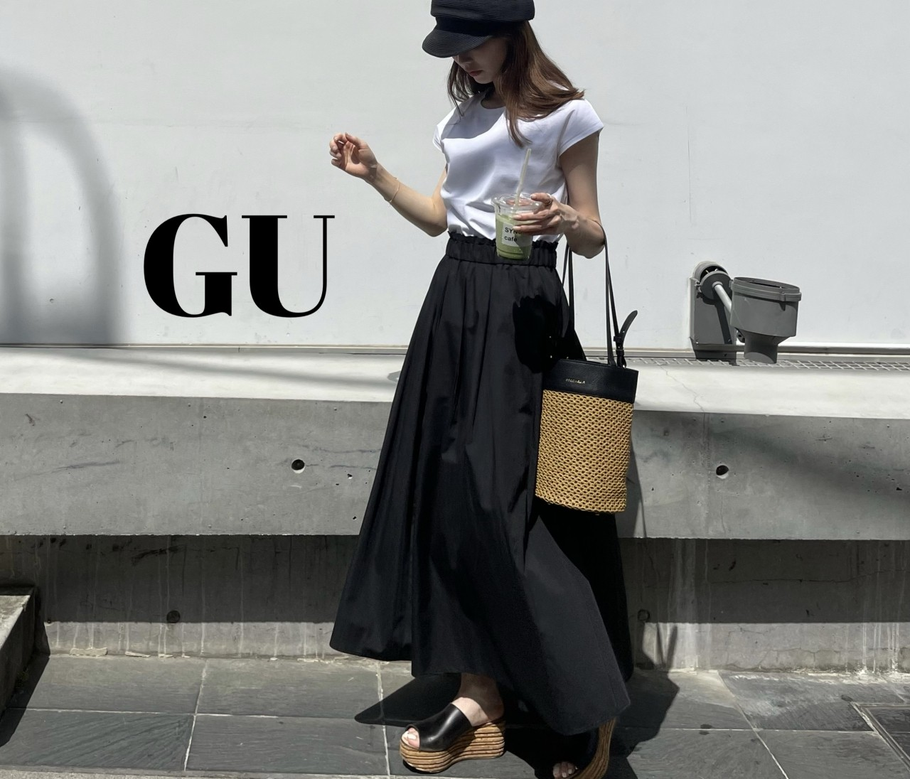 【GU】話題のマーセライズドTできれいめカジュアル♡
