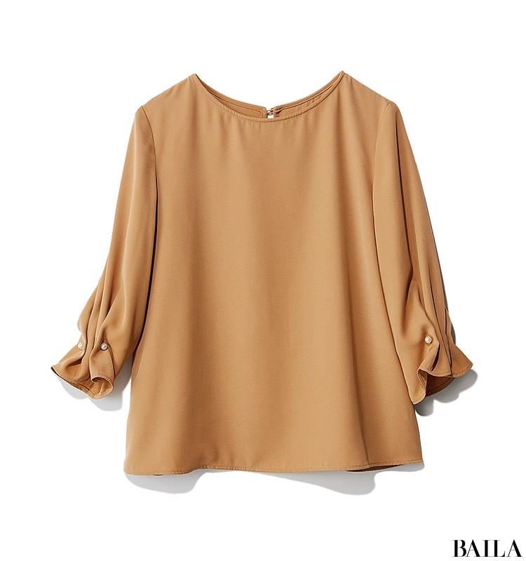 朝イチ会議の日は、即きれい見えする旬色ブラウス×プリーツスカートスタイルで!【2019/9/12のコーデ】_2_1