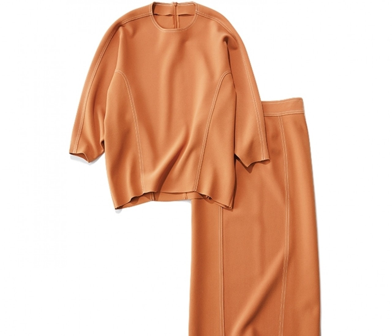 【オレンジセットアップ着回し】トレンドカラーで華やか7コーデ