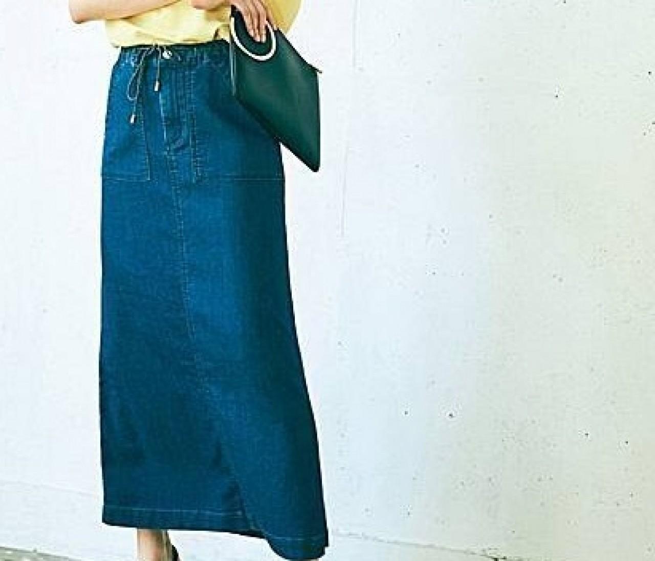 すとん、ときれいなデニムスカート【晴れた日のポチりたガール】