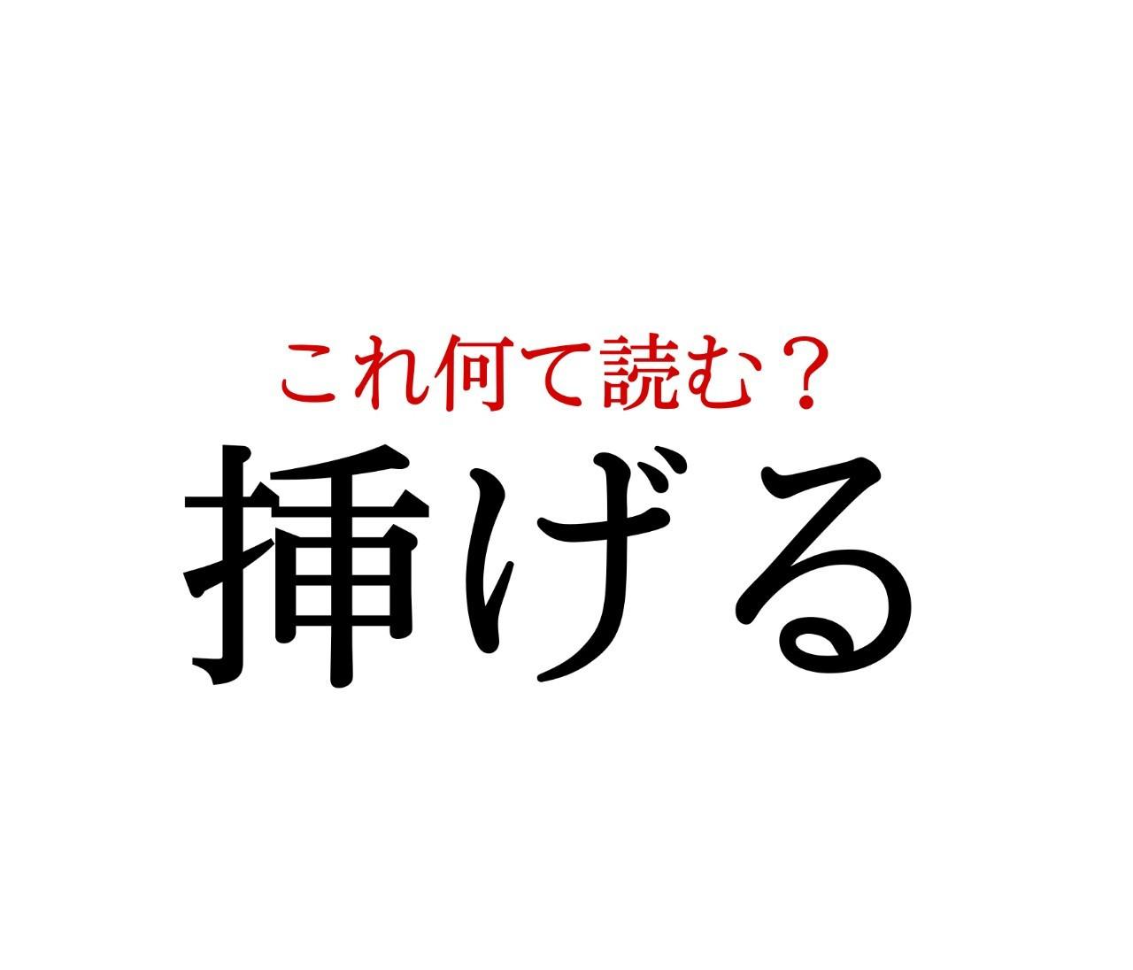 「挿げる」:この漢字、自信を持って読めますか?【働く大人の漢字クイズvol.174】