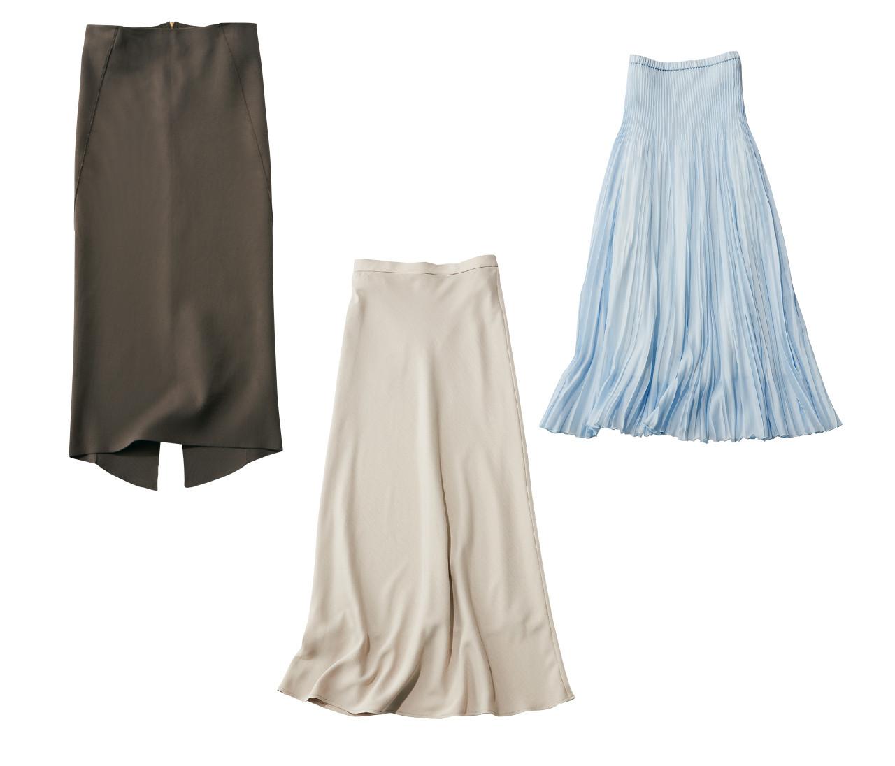 【スカート派OLの着回しワードローブ】この春、30代が仕事で使える3着のスカート&ワードローブはこれ!