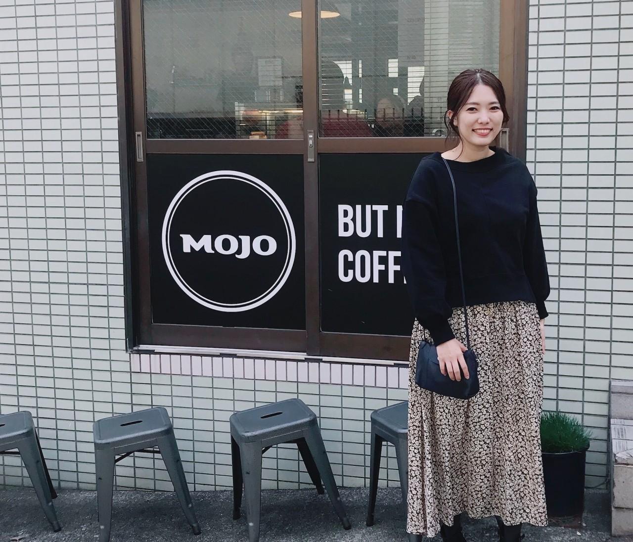 ootd 休日コーデ☆神楽坂のMojo Coffeeへ