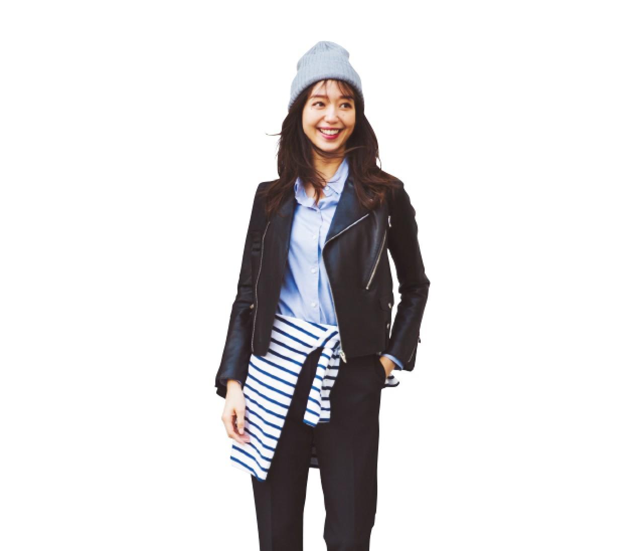 美術鑑賞する日は、モダンなブラック&ブルーの着こなしで♡【2019/1/13のコーデ】