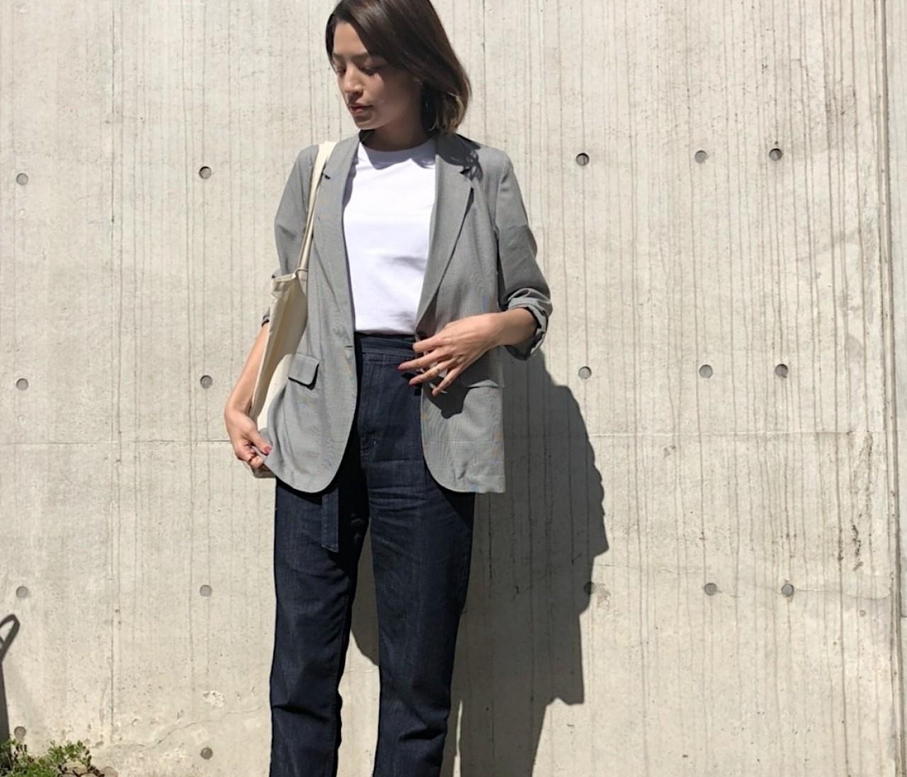 ユニクロの薄軽JKで全身【1万円以下】ON/OFF ジャケットコーデ