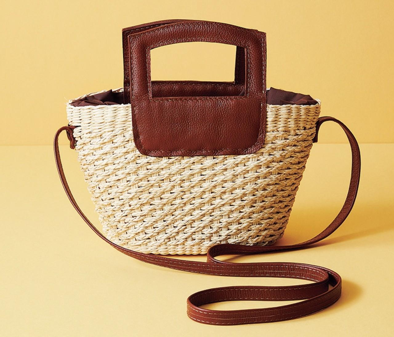 【働く30代のバッグ】春~秋まで使える「レザーMIXかごバッグ」9選