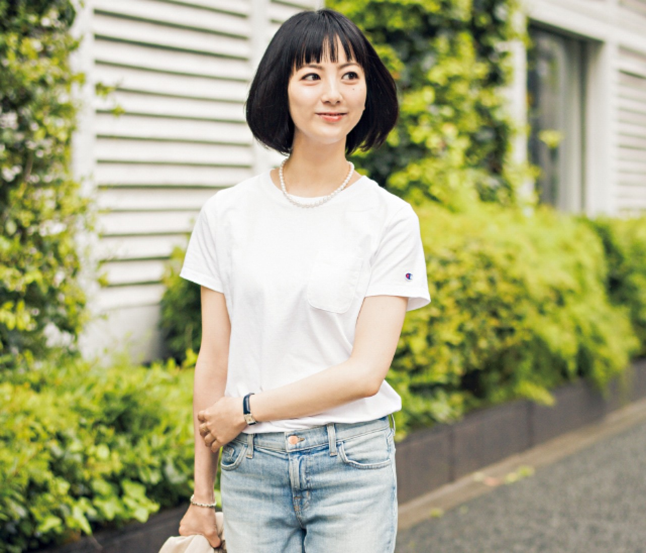 【スナップ】大ヒット♥︎ チャンピオンのシンプル白Tシャツ