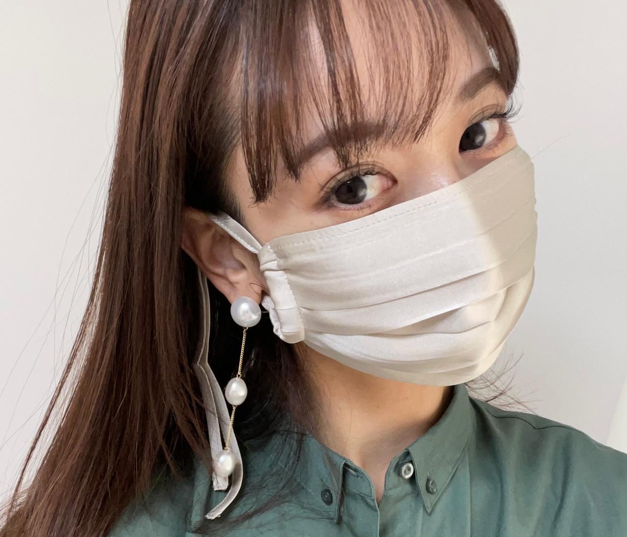 ルームウェアブランドから登場〝シルク100%の優秀マスク♡〟