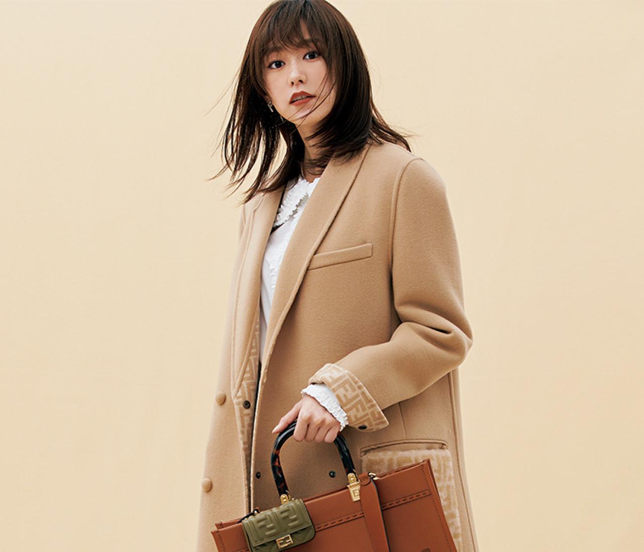 【桐谷美玲×フェンディの新作バッグ】ビッグトート&ナノ バゲットが働く30代にちょうどいい!