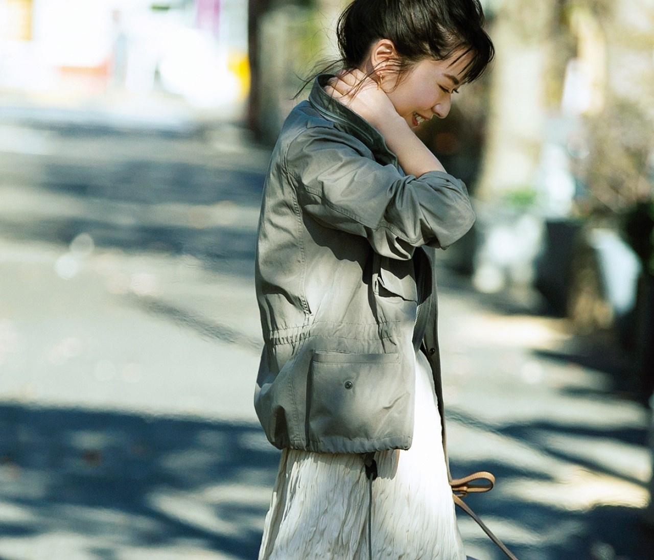 【伊藤真知さんの春いちユニクロ】プリーツスカートは「シワ加工」でこなれ感を!