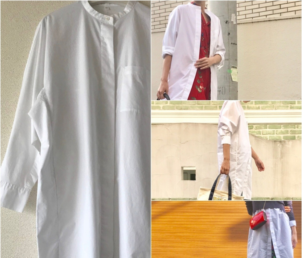 シンプルゆえに着回し自在♡【無印良品のシャツワンピース】が最高!!!