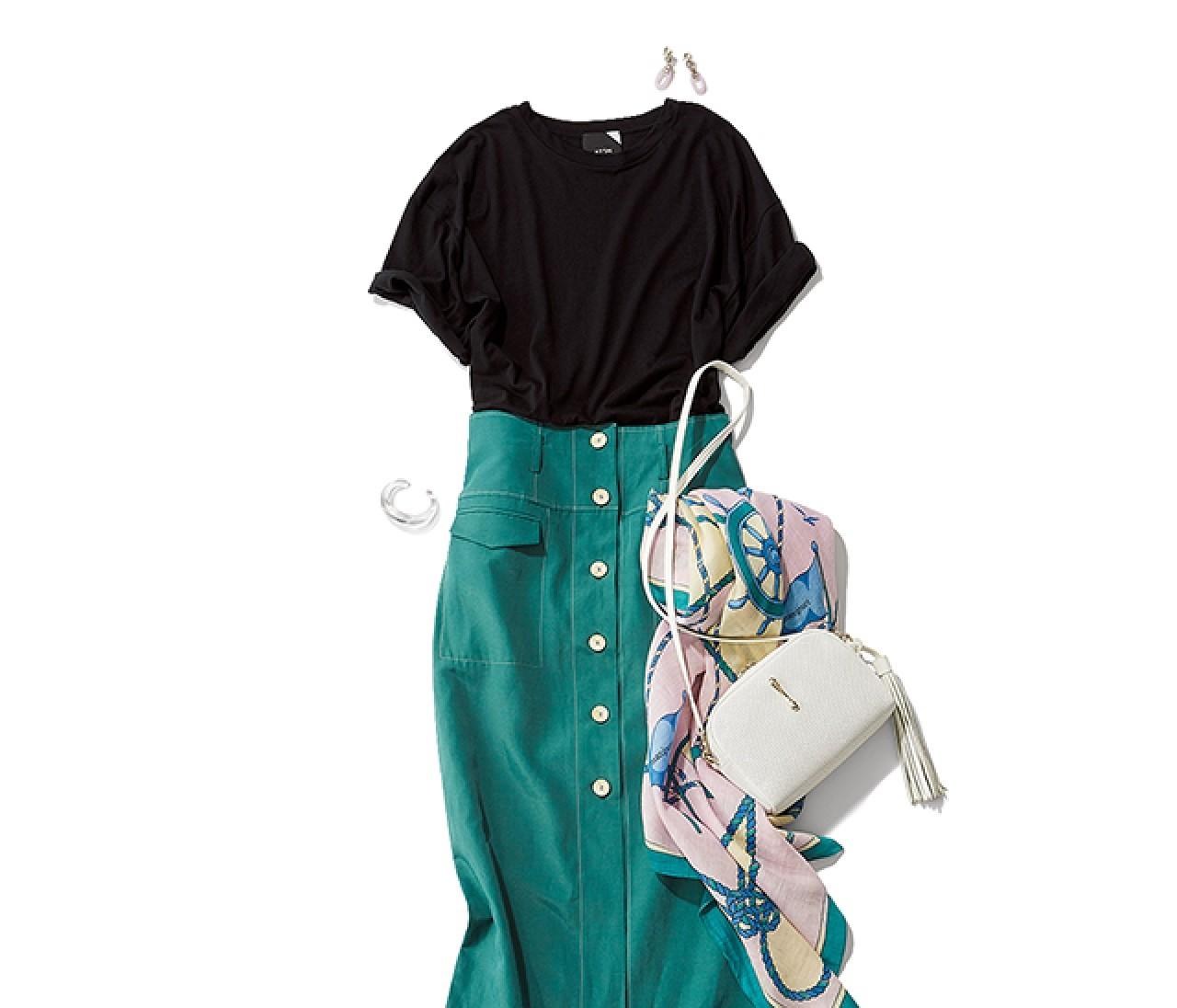 休日出勤する日は、動ける好感度Tシャツスタイルが気分!【2019/6/29のコーデ】