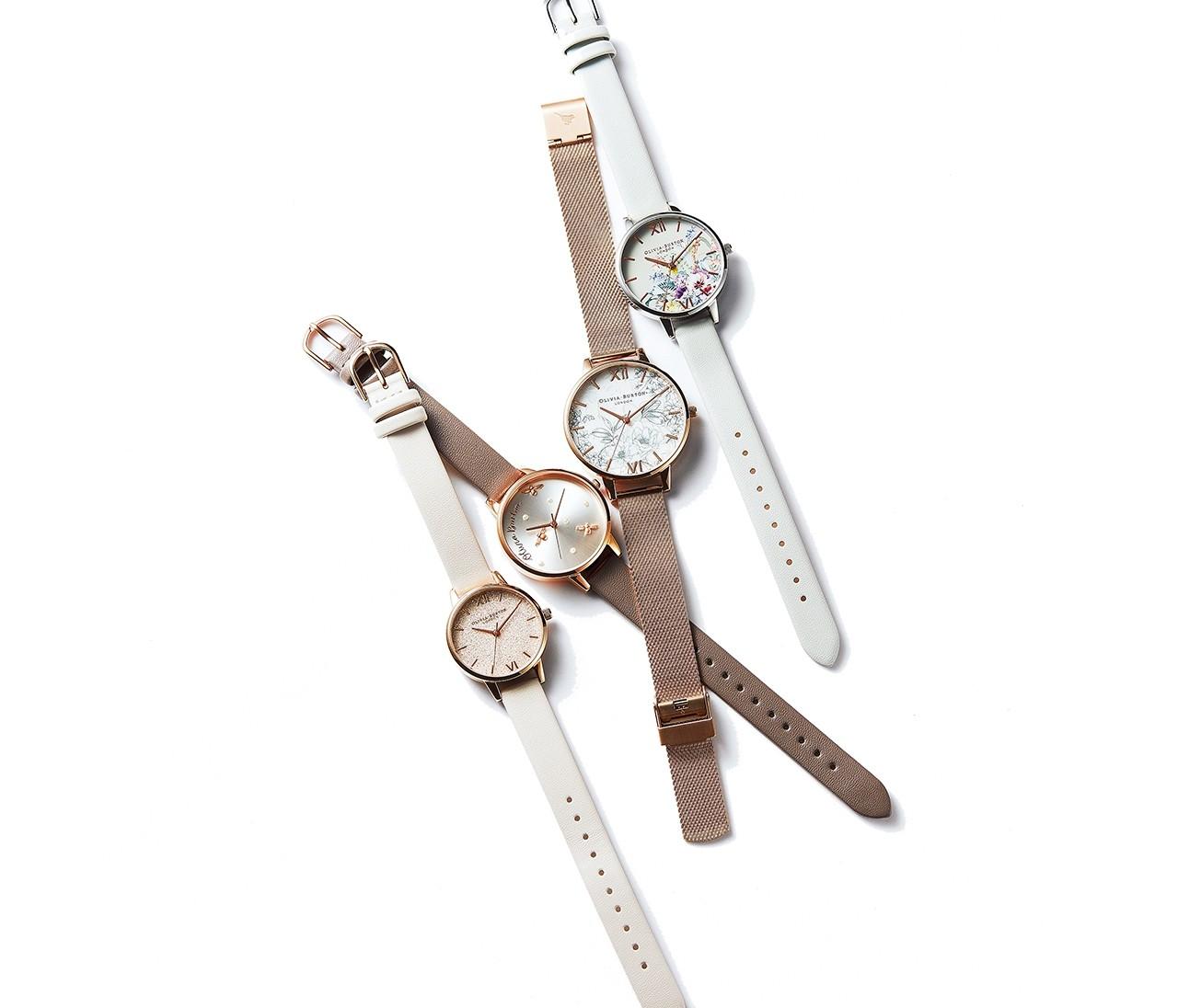 ほんのり甘めなオリビア・バートンの時計は、大人の可愛げにちょうどいい!