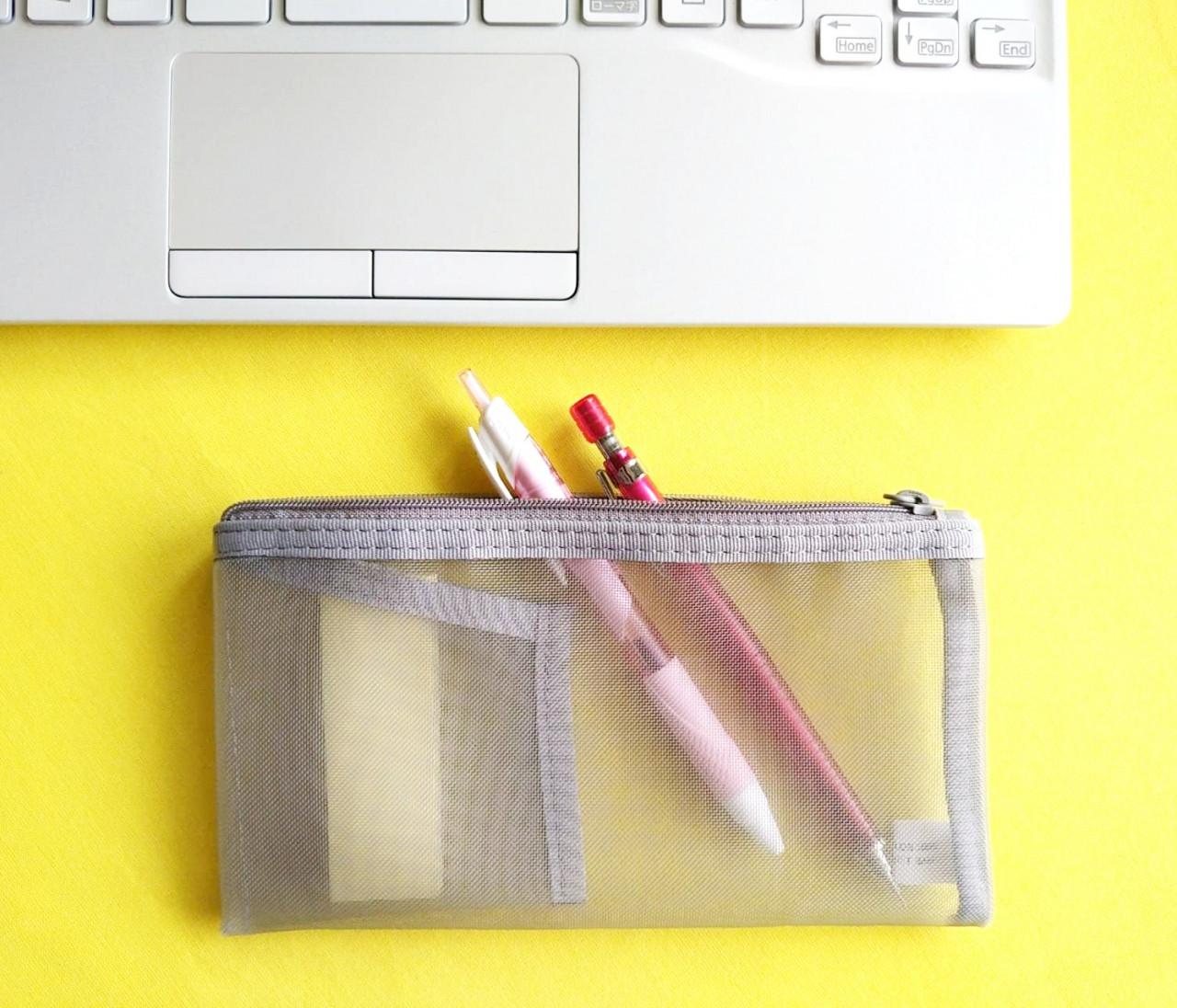 【無印良品】ナイロンメッシュペンケースが使えすぎ♡ 内ポケットつきがポイント!