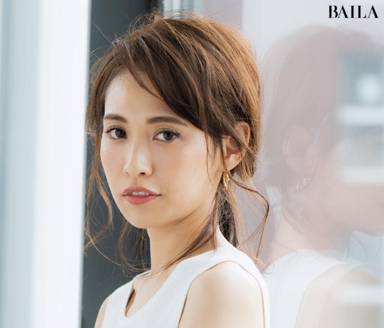 【ロングヘア編】中村アンの2way前髪に切ると、ひとつ結びも見違える!