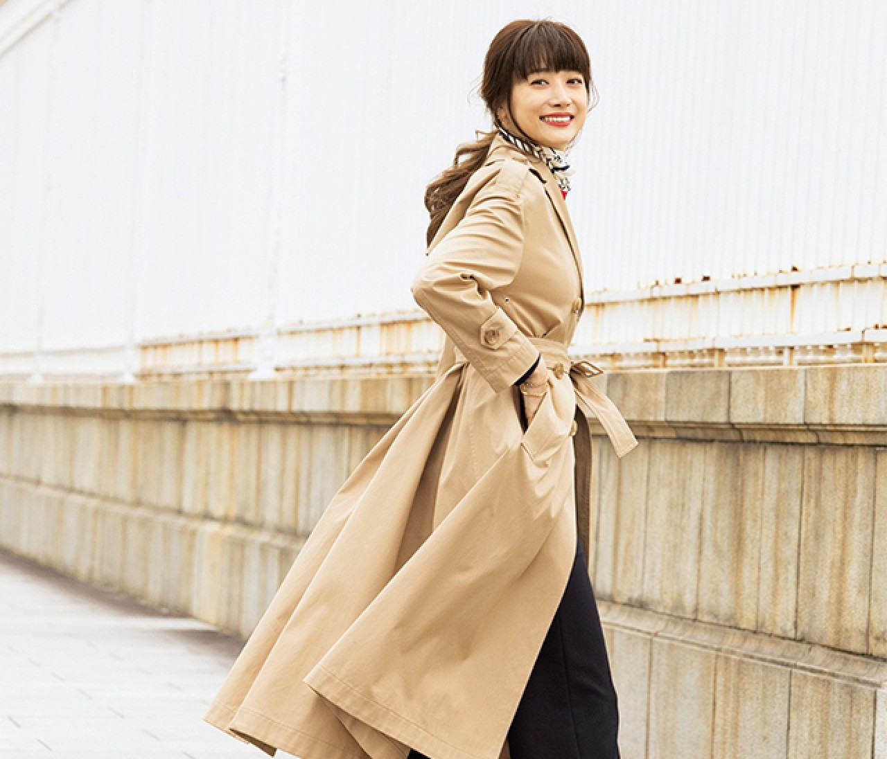毎日自信が持てる「トレンチコート」の着こなし方をヨンアがナビ♡