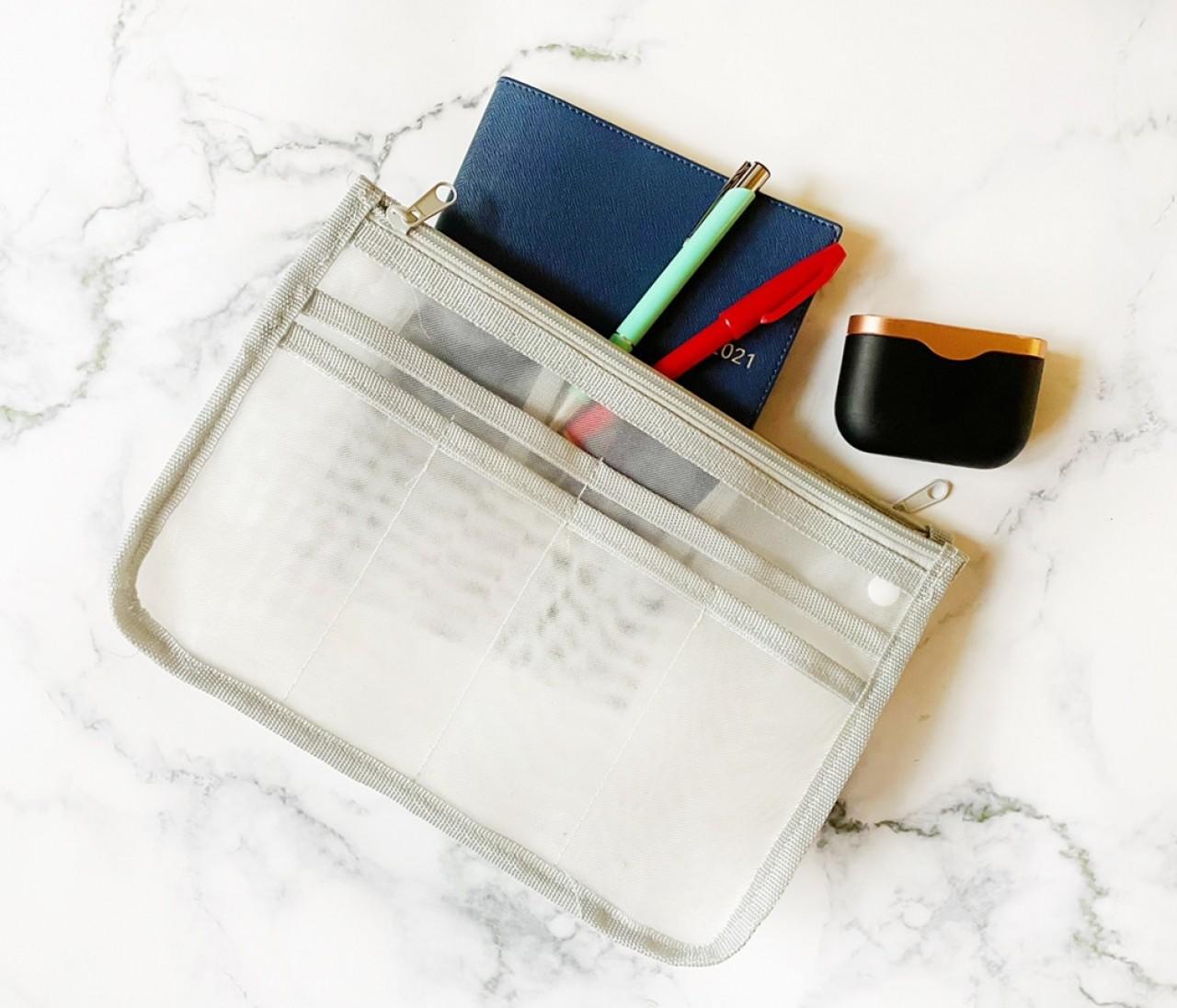【ダイソー】新商品「バッグインバッグ」がかなり使える!ポケットの数は11個で収納力バツグン♡