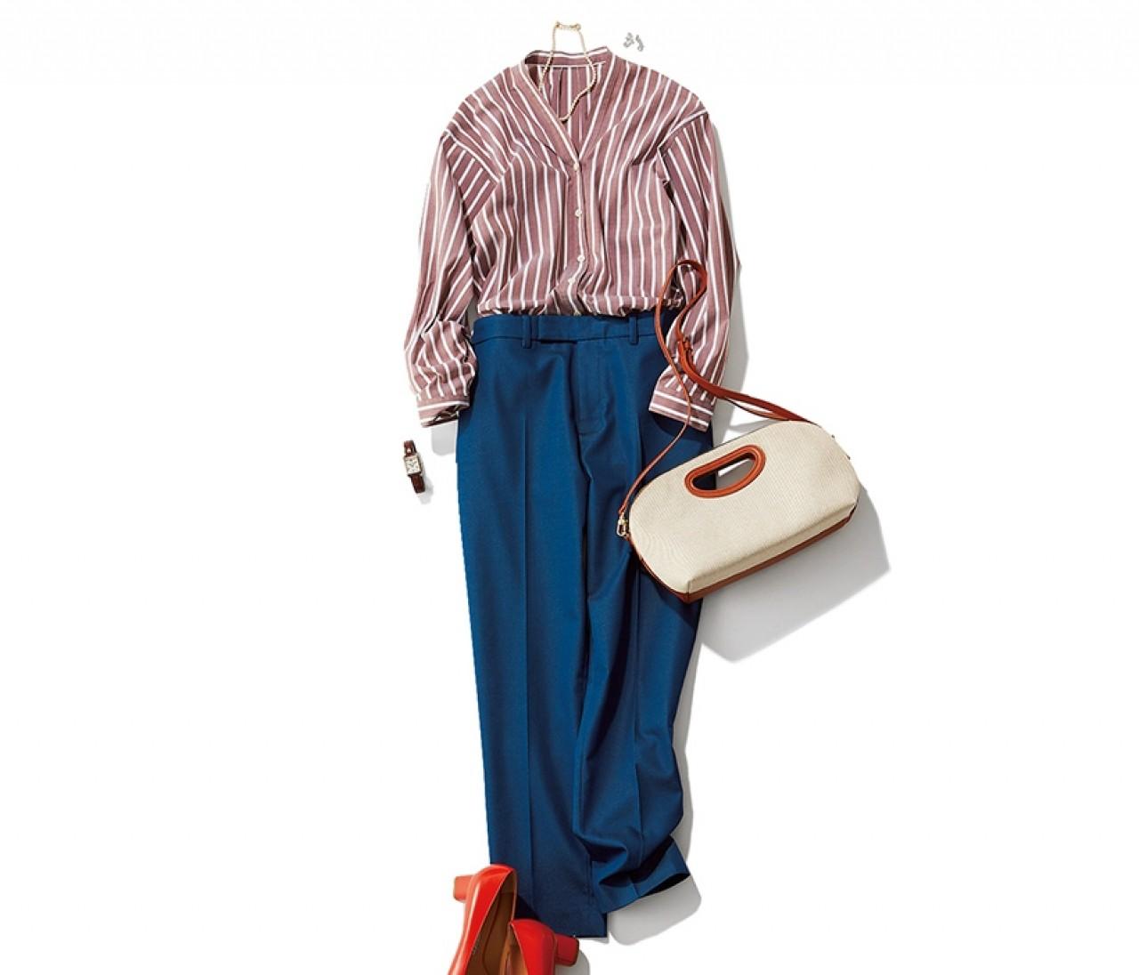 高級ディナーに行く日は、イイ女に見えるストライプシャツスタイル!【2019/6/8のコーデ】