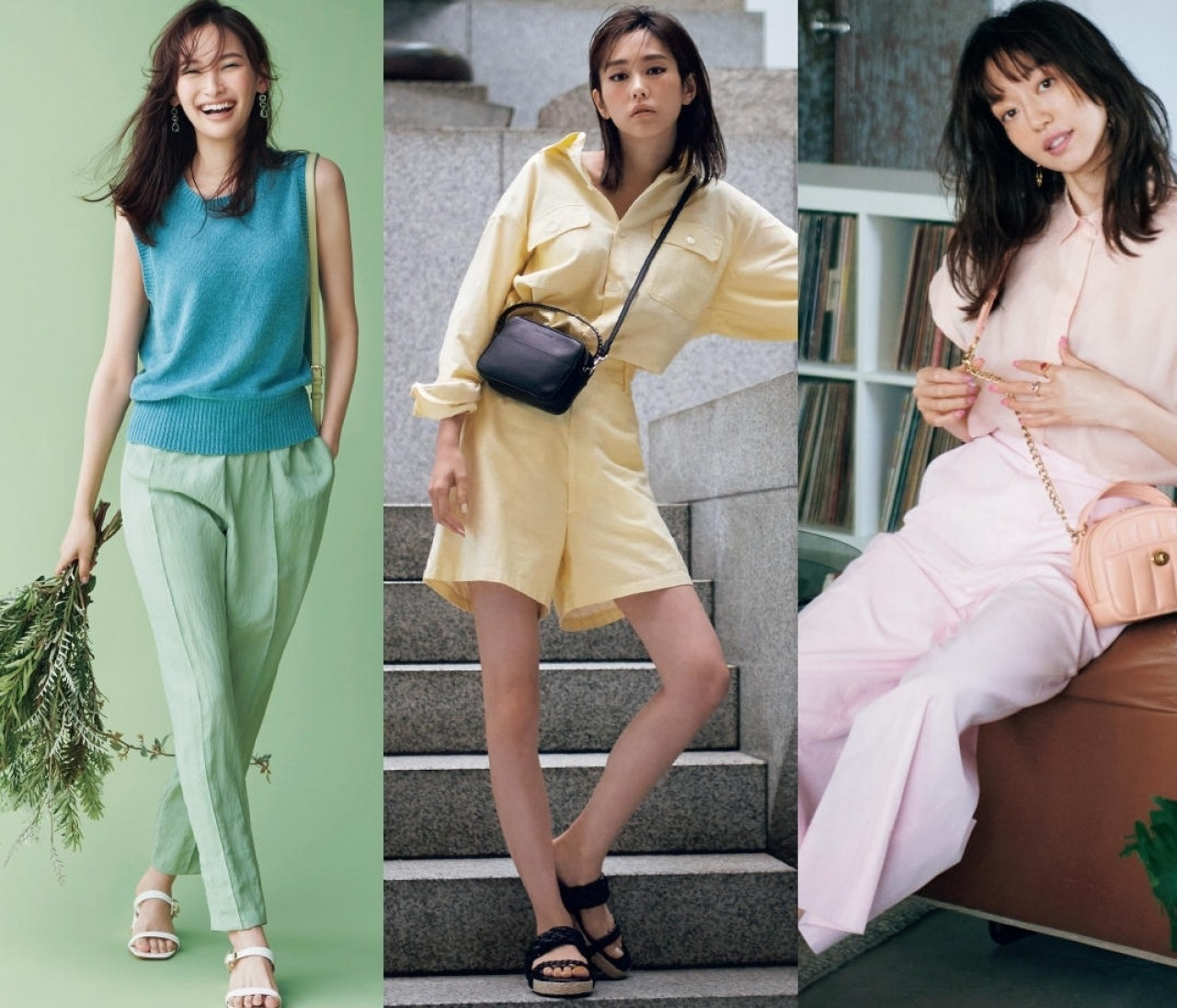桐谷美玲、大政 絢、新川優愛...バイラモデルズ8人の最新きれい色の着こなしを一気見!
