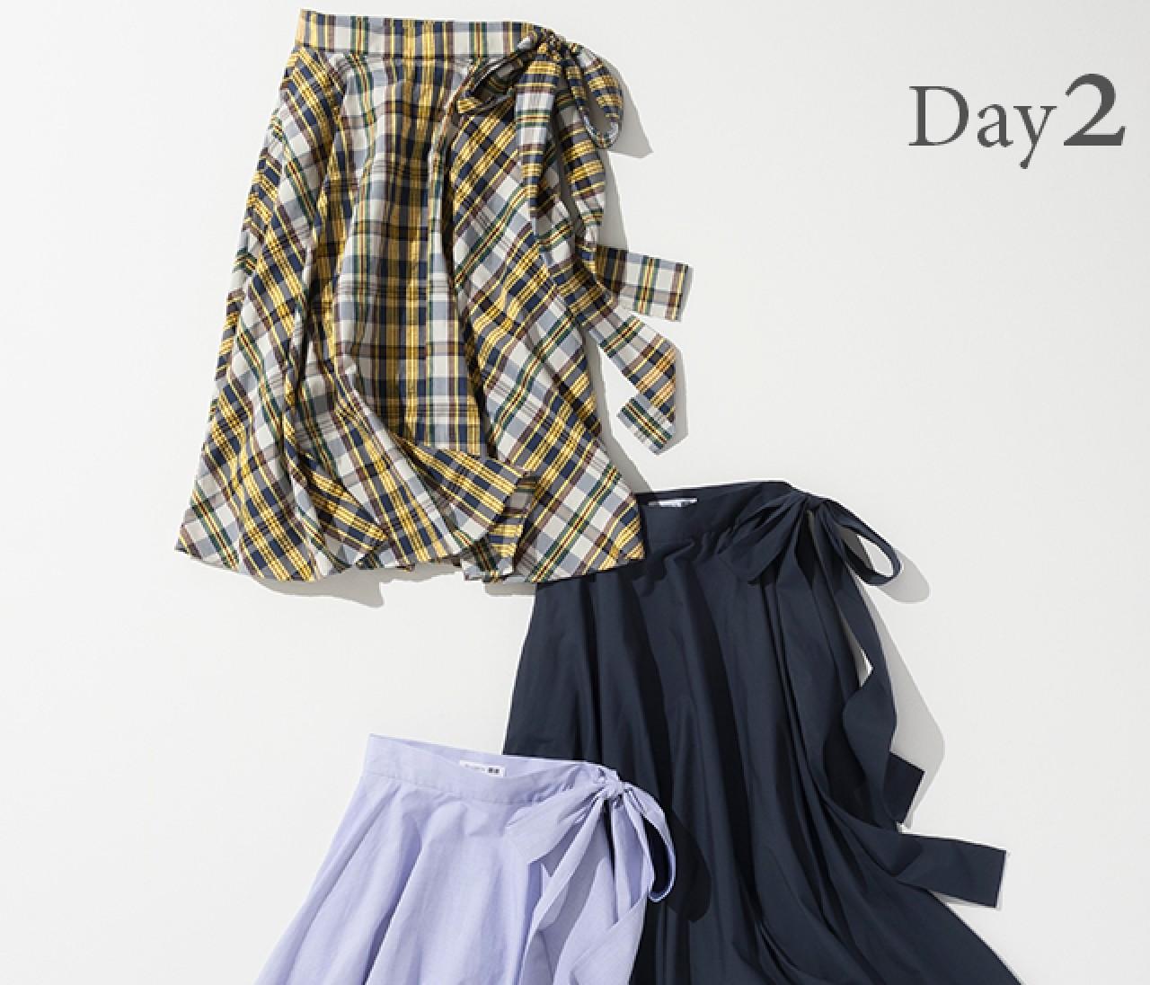 人気沸騰! JW ANDERSONのコラボスカート。 サイドリボンで女性らしさを引き立てて【ユニクロ毎日コーデ】