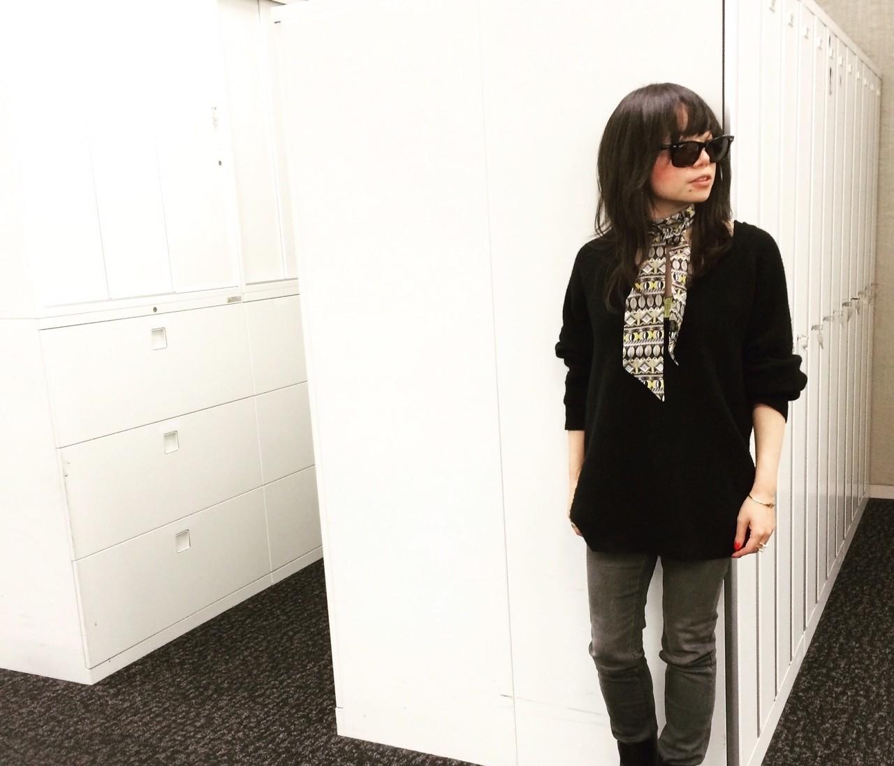 【#OOTD】バイラ編集部でもスカーフ愛用者、増えてます!