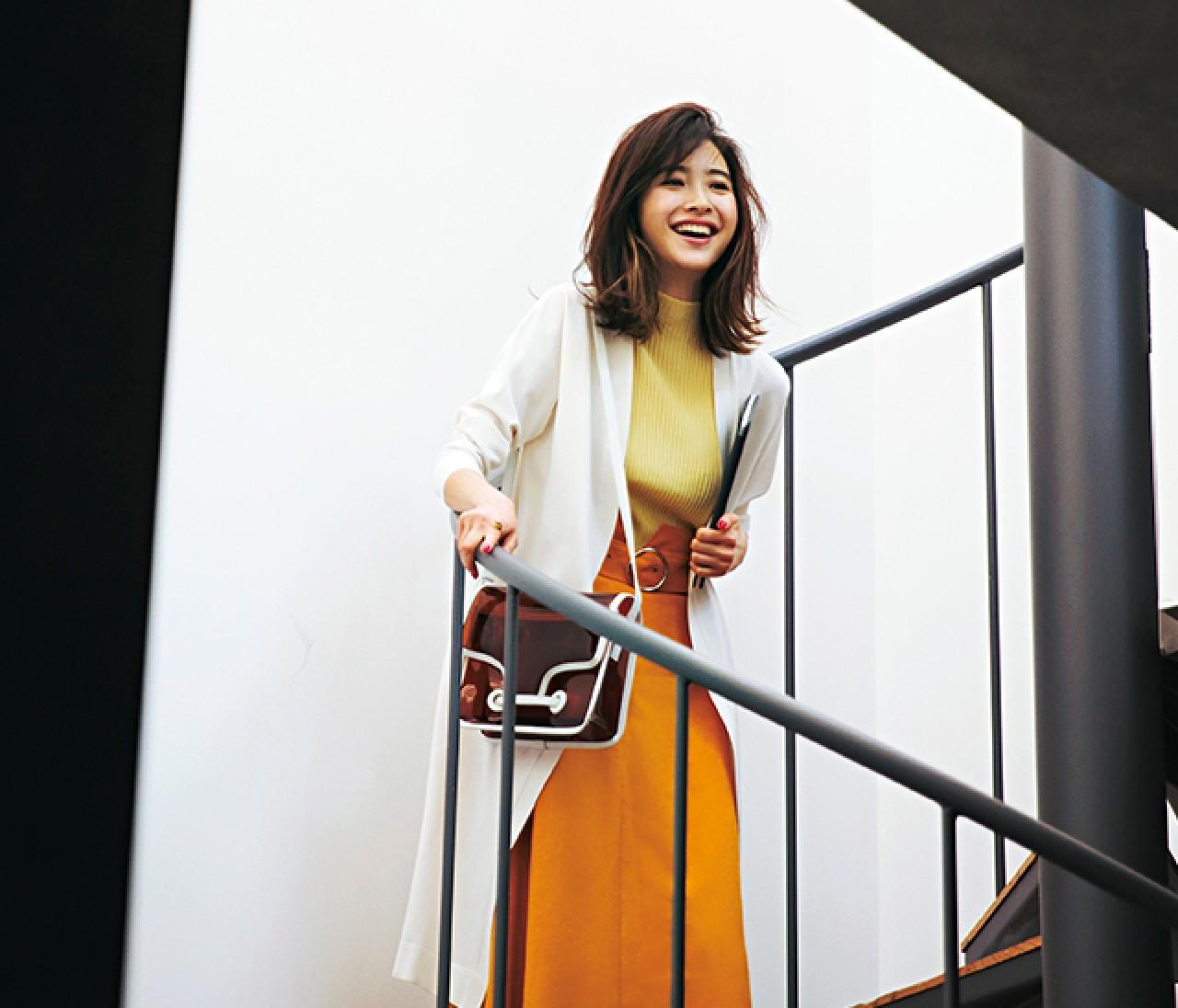 銀座デートの日は、鮮度高めの洗練イエロースタイル♡【2019/5/10のコーデ】