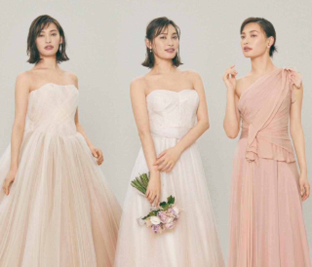 幸福感たっぷりのピンクドレス【10年先も美しいニュアンスカラードレス①】