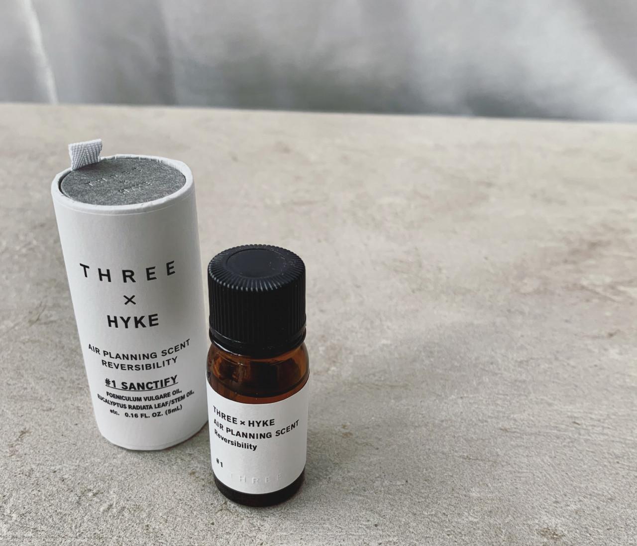 THREE × HYKE のスペシャルコラボ! 100% 天然精油のルームフレグランス【30代に幸せをくれるものvol.10】