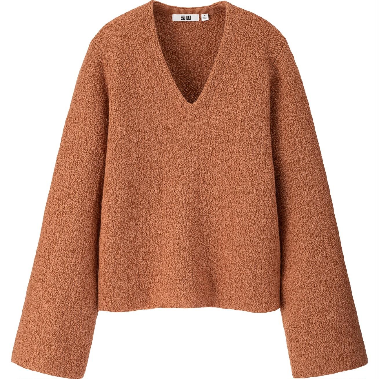 シャギーワイドスリーブセーター(長袖)¥3990/ユニクロ(ユニクロ ユー)