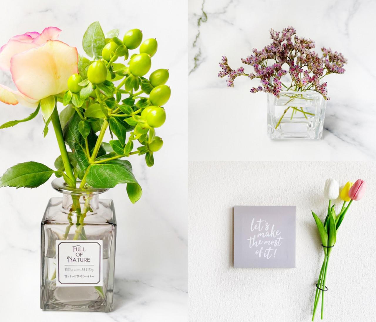 【セリア】花瓶がじつはおしゃれで使える!テーブル映え&壁映え&花瓶以外のアレンジも!