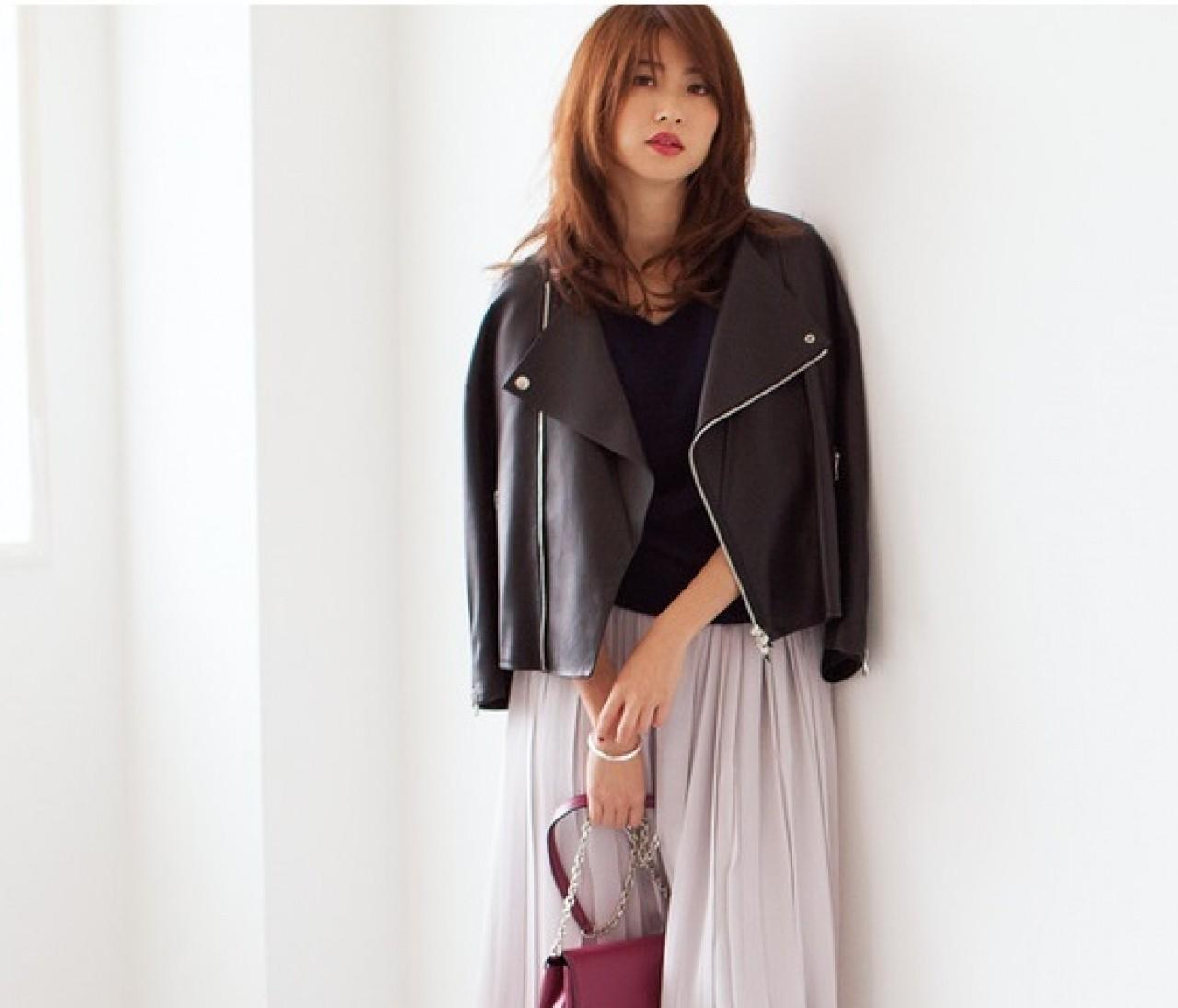 ライダースジャケットを誰より女っぽく着る方法♡