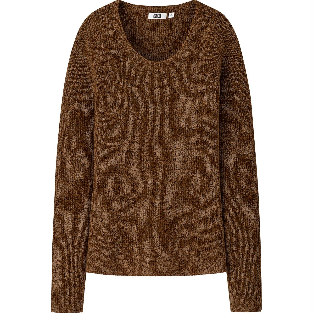 メランジラウンドネックセーター(長袖)¥3990/ユニクロ(ユニクロ ユー)
