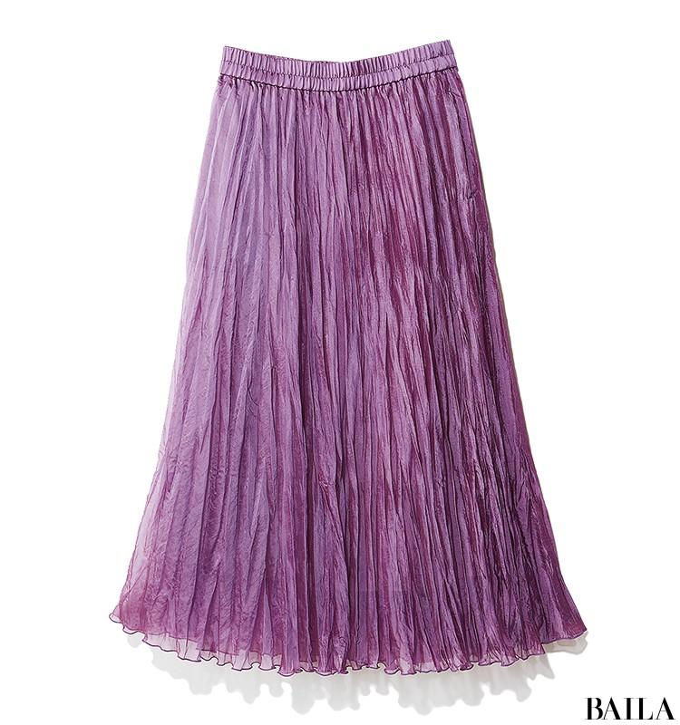 朝イチ会議の日は、即きれい見えする旬色ブラウス×プリーツスカートスタイルで!【2019/9/12のコーデ】_2_2
