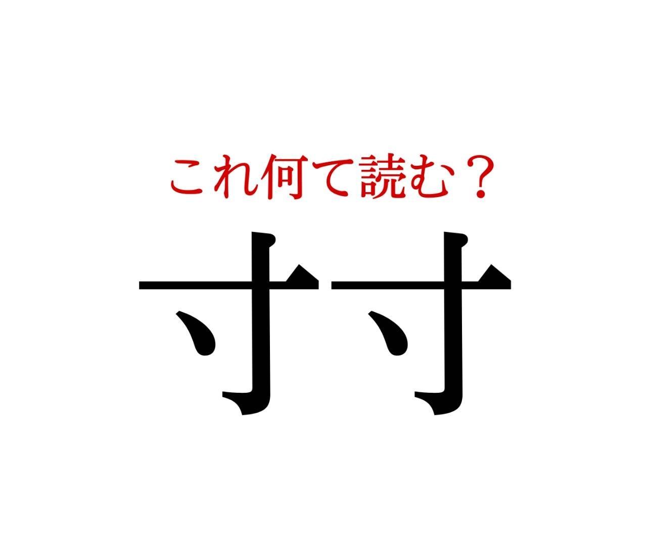 「寸寸」:この漢字、自信を持って読めますか?【働く大人の漢字クイズvol.72】