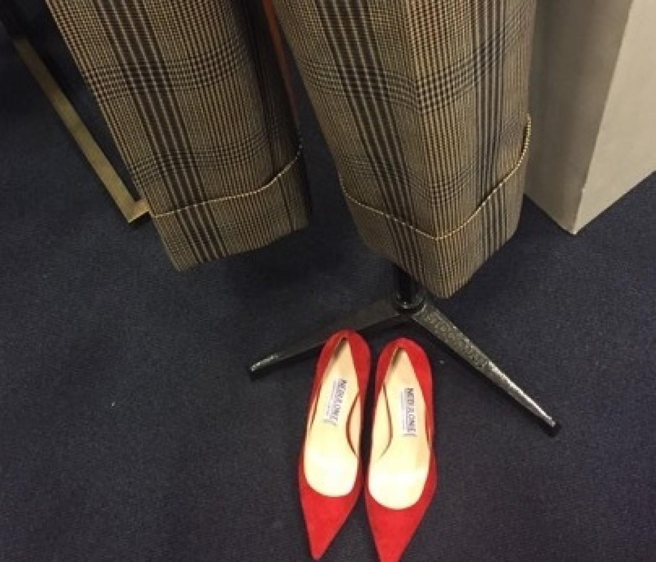 展示会で見つけた秋のヒント①「チェックを女っぽく着るちょっとしたコツ」