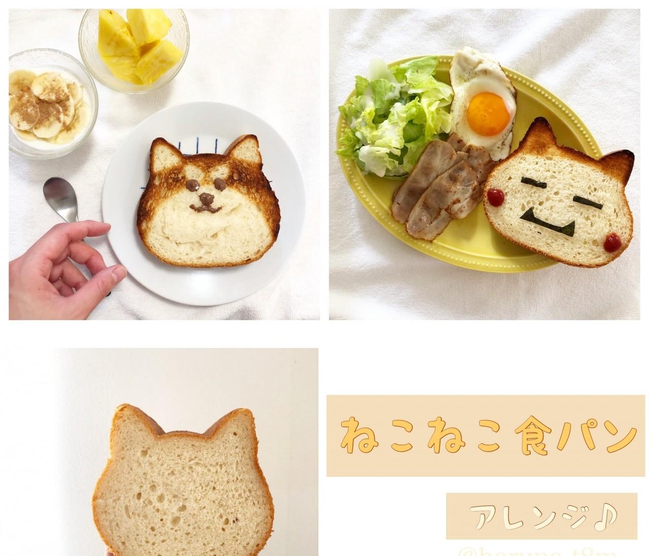 人気のねこねこ食パンをアレンジしてみた♡