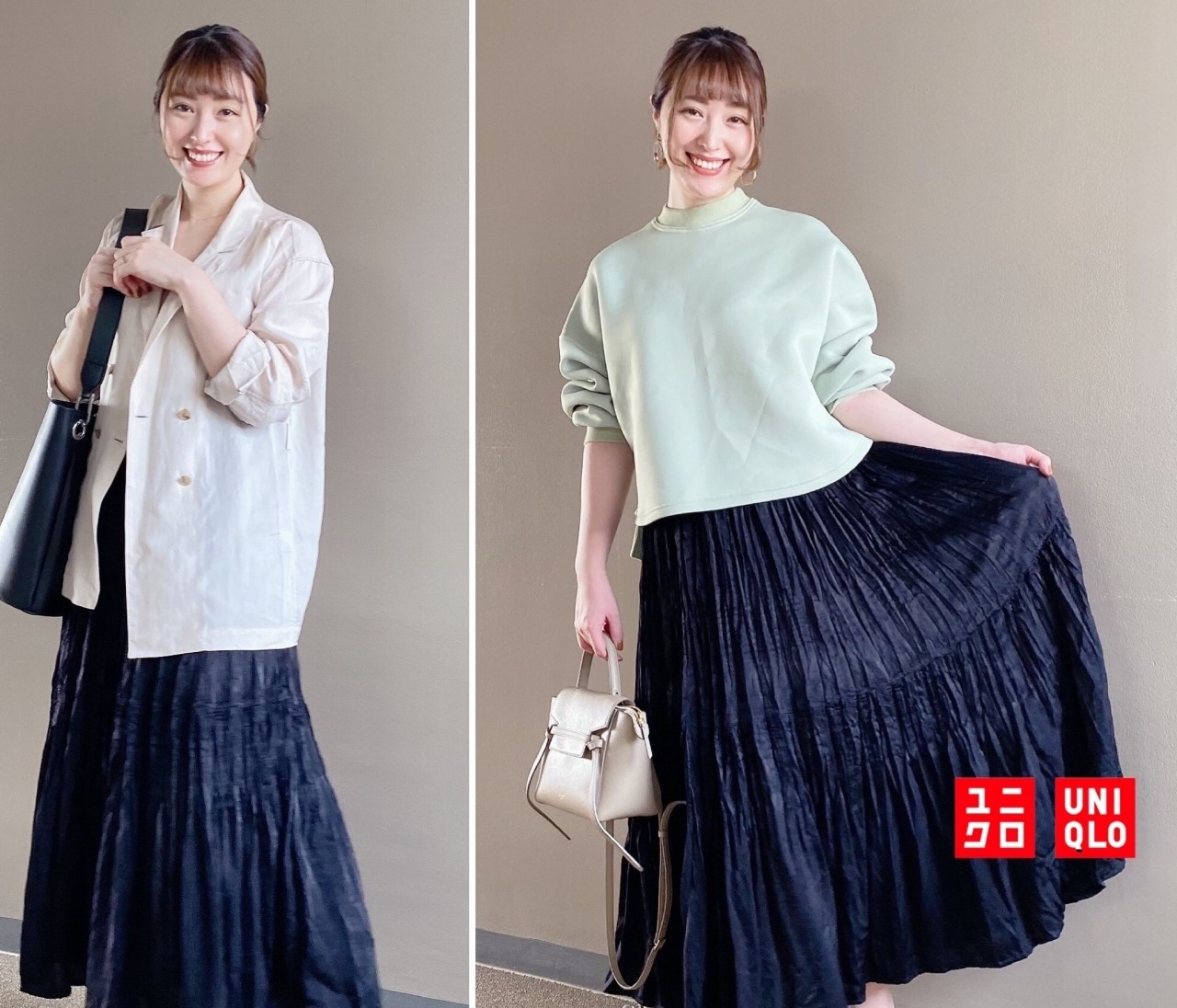【ユニクロ秋冬】秋口まで使える◎新作プリーツスカートを着回し!