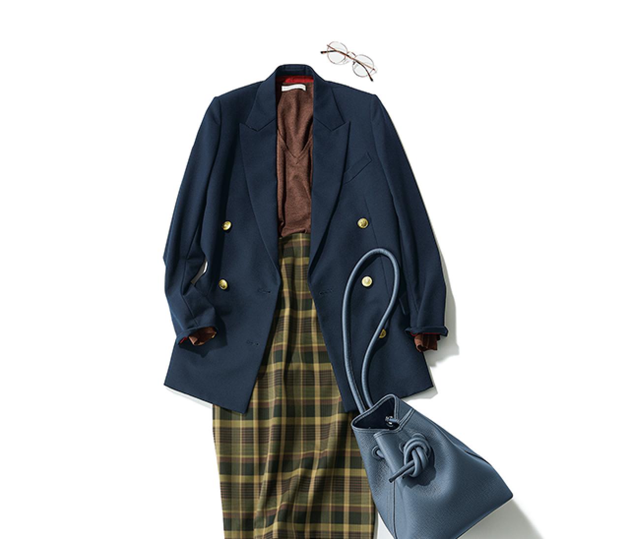 研修会に参加する日は、旬なジャケットスタイルで素敵な先輩風に【2018/10/3のコーデ】