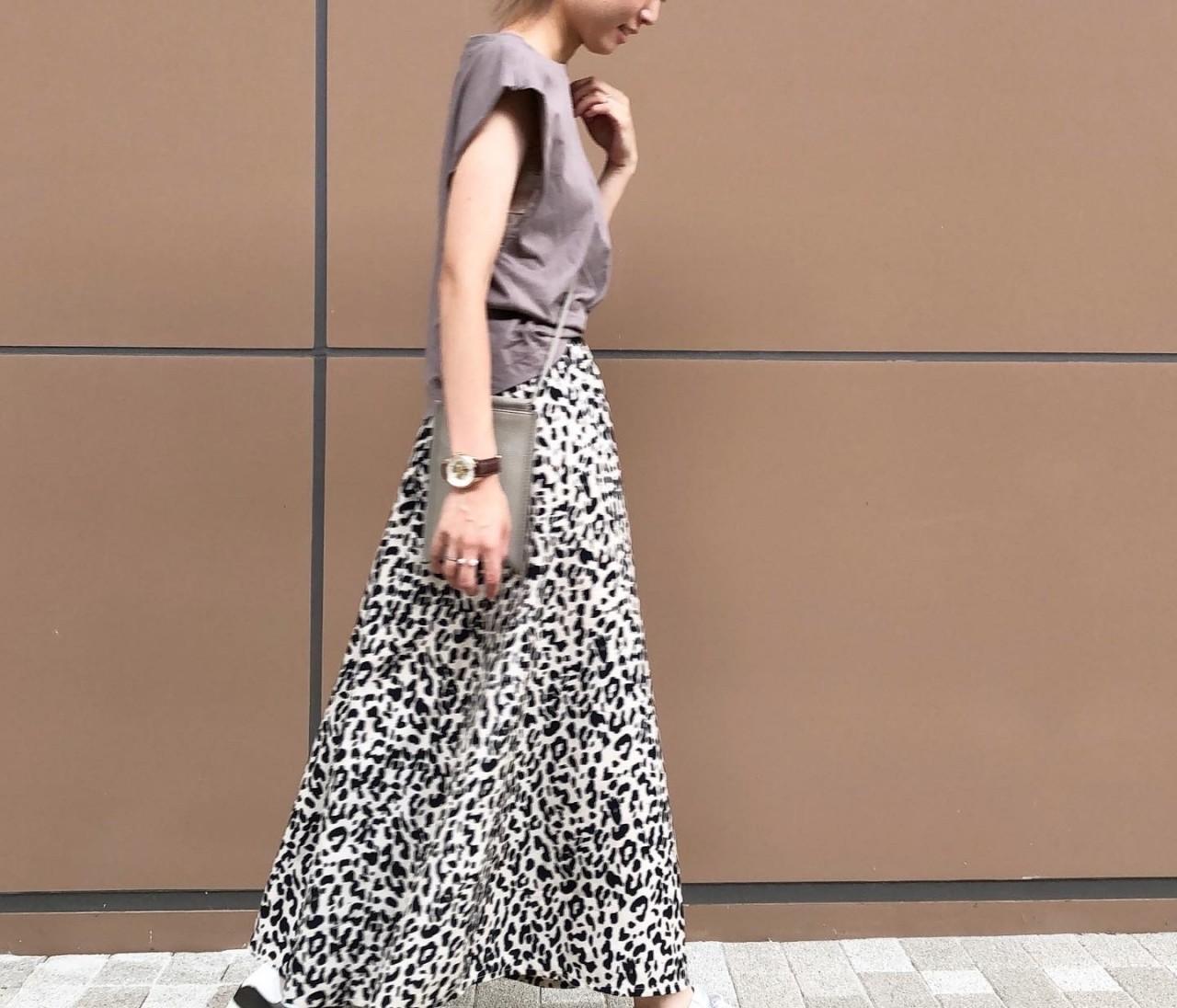 1年中はける‼︎季節を問わない「レオパード柄」のスカート