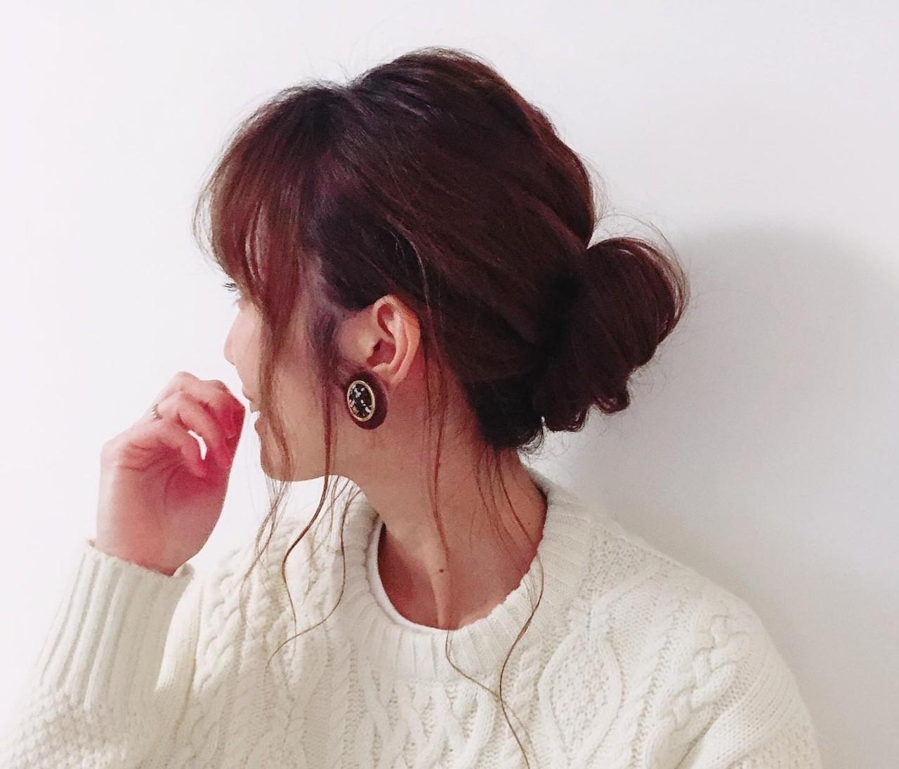 モテ髪☆人気の「ゆるふわシニヨン」をやってみました♪