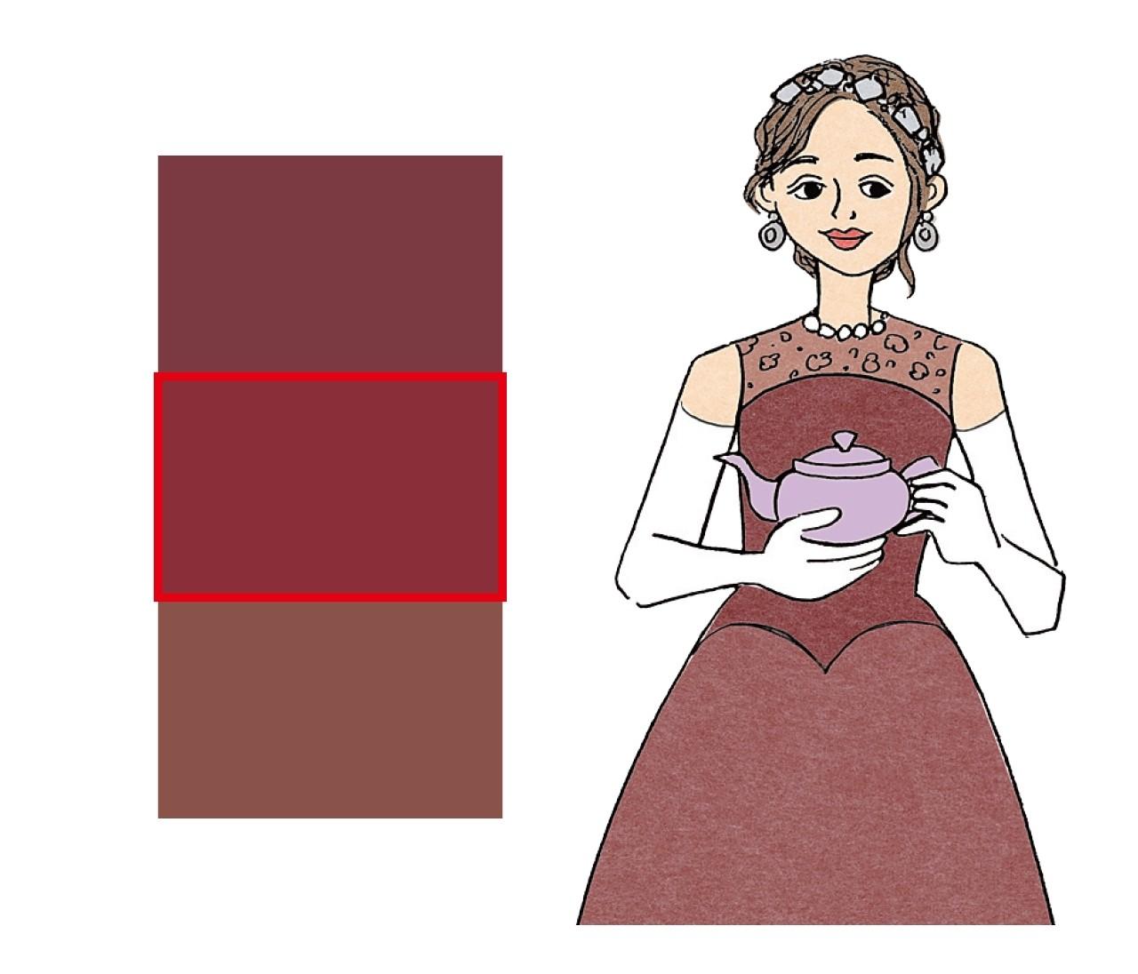 【ブルベ×女顔】ティーブラウン姫は明るめの赤みブラウンでエレガントに見せる!