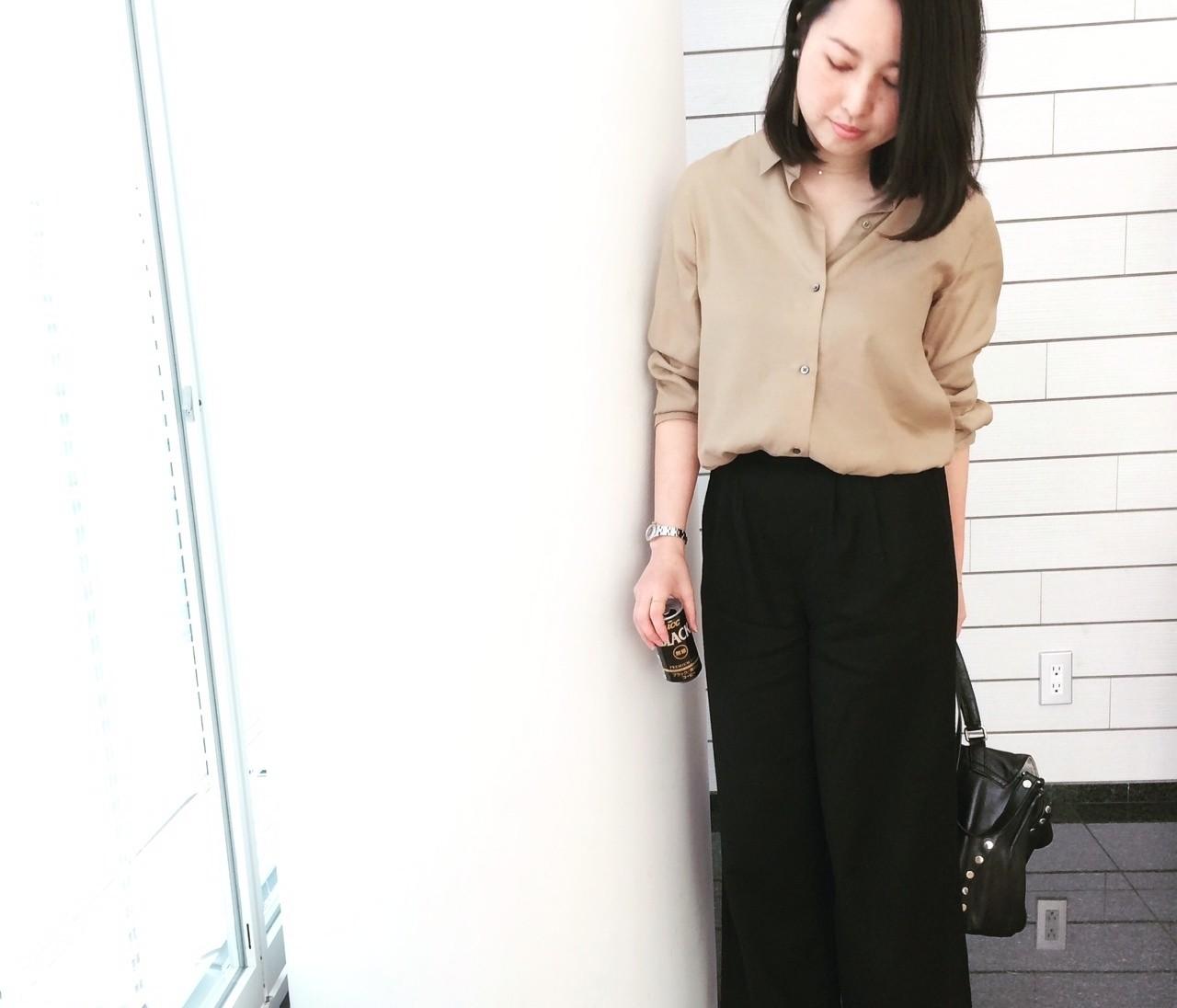 【#OOTD】155cmのデザイナーSさん、小柄でもはけるワイドパンツを発見!