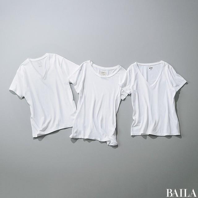「肩ハリさん」がゴツく見えない【無地白Tシャツ】の大正解_1_4